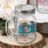 Clearly Custom Collection Personalized Mason Jar w/ Handle & Screw Top