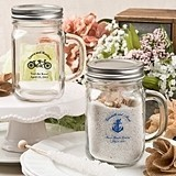 Silkscreened Collection Personalized Glass Mason Jar with Screwtop Lid