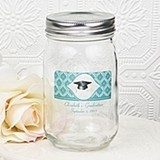 Clearly Custom Collection Personalized Glass Mason Jar with Screw Top