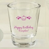 Silkscreened Collection Personalized Shot Glasses (Birthday Designs)