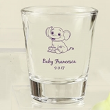Silkscreened Collection Personalized Baby Shower Shot Glasses