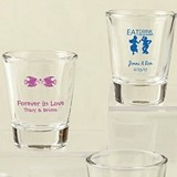 Silkscreened Collection Personalized Shot Glasses (Wedding Designs)