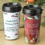 Personalized Double-Wall Insulated Coffee Cup (Holiday Designs)