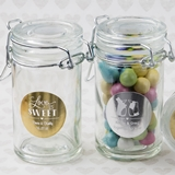 Personalized Metallics Collection Glass Apothecary Jar