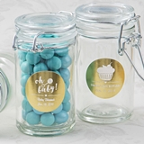 Personalized Metallics Collection Glass Apothecary Jar (Baby Shower)