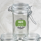 Personalized Expressions Collection Glass Apothecary Jar (Cannabis)