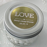 Personalized Metallics Collection Jelly Jar w/ Quilted Embossed Design