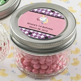 Personalized Expressions Collection Quilted Jelly Jar (Baby Shower)