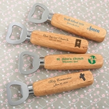 Personalized Wood-Handled Bottle Opener (Religious Designs)