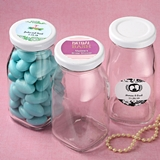 Personalized Expressions Collection Vintage-Look Glass Milk Bottle