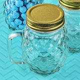 FashionCraft Perfectly Plain Collection Pineapple Design Mason Jar