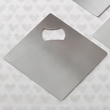 Perfectly Plain Collection Stainless-Steel Coaster/Bottle Opener