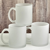 FashionCraft Perfectly Plain Collection Frosted Glass Coffee Mug