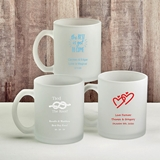 Personalized Silkscreened Frosted Glass Coffee Mug for All Occasions