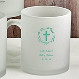 Personalized Silkscreened Frosted Glass Coffee Mug - Religious Events