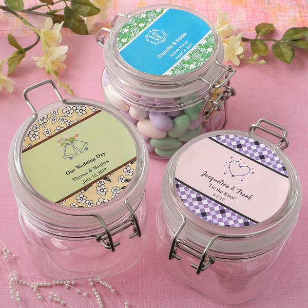 Personalized Expressions Collection Large Clear Acrylic Apothecary Jar