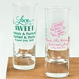 Silkscreened Expressions Collection Personalized 2 oz Shooter Glasses