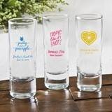 Silkscreened Collection Personalized Tropical Design 2oz Shooter Glass