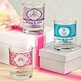 Clearly Custom Collection Personalized Round Shot Glass/Votive Holder