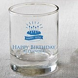 Silkscreened Collection Personalized Birthday Designs Shot Glasses