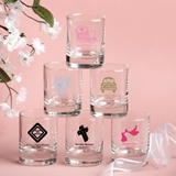 Silkscreened Collection Personalized Baby Shower Designs Shot Glasses