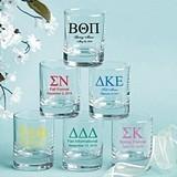 Personalized Silkscreened Collection Greek Design Shot Glasses/Votives