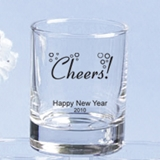 Silkscreened Collection Personalized Holiday Designs Shot Glasses