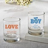 Silkscreened Collection Personalized Shot Glasses with Marquee Designs