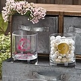 Personalized Silkscreened Monogrammed Collection Shot Glasses/Votives