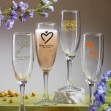 Silkscreened Collection Personalized Traditional Glass Champagne Flute