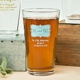 Silkscreened Expressions Collection Personalized Pint Glasses