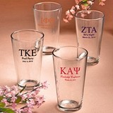 Silkscreened Collection Personalized Greek Designs Pint Glasses