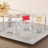 Personalized Birthday Designs 9 oz. Stemless Wine Glasses