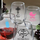 FashionCraft Personalized Baby Shower Designs 9oz Stemless Wine Glass