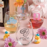 Personalized Baby Shower Designs 15 ounce Stemless Wine Glasses