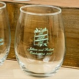 Personalized Silkscreened Expressions Collection 15 ounce Wine Glasses