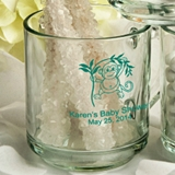 Silkscreened Personalized 10oz Baby Shower Designs Glass Mugs
