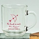 Silkscreened Expressions Collection Personalized 10 oz. Glass Mugs