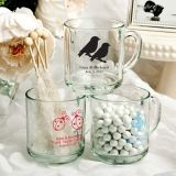 Silkscreened Glassware Collection Personalized 10 oz. Handy Glass Mugs