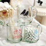 Silkscreened Glassware Collection Personalized 10 oz. Handy Glass Mugs
