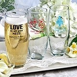 Silkscreened Collection Personalized Stemless Champagne Flutes