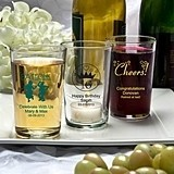 Silkscreened Glassware Collection Personalized Bistro Glasses