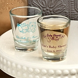 Silkscreened Collection Personalized Baby Shower Flared Shot Glasses