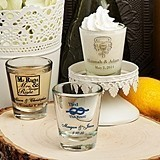 Silkscreened Glassware Collection Personalized Flared Shot Glasses