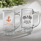 Silkscreened Collection Personalized Glass Beer Mugs for All Occasions