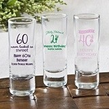 Silkscreened Glassware Collection Personalized Birthday Shooter Glass