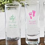 Silkscreened Glassware Personalized Shooter Glasses (Baby Shower)