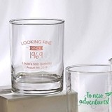 Silkscreened Glassware Personalized Birthday Designs 13 oz Rocks Glass