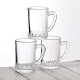 FashionCraft Perfectly Plain Collection 3oz Mini Glass Mug with Handle