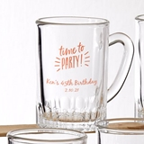 Silkscreened Glassware Personalized Celebration Designs 3oz Glass Mug